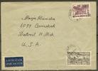 Czeslaw Slania. Poland 1956. Renaissance Year. Michel 972. Ordinary Letter Sent To USA. - Covers & Documents