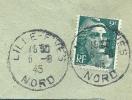 France 2fr Vert Marianne De Gandon Seul Sur Lettre Cie De Fives Lille 6-8-1945 - 1945-54 Marianne De Gandon