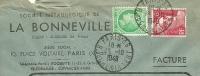 France 2 + 6 Fr Marianne De Gandon Pair Sur Lettre Societe Metallurgique LA BONNEVILLE, Paris 13-10-1948 - 1945-54 Marianne De Gandon