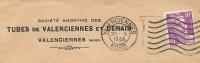 France 10 Fr Marianne De Gandon Seul Sur Lettre Societe Anonyme Des Tubes De Valenciennes Et Denain,  20-10-1948 - 1945-54 Marianne De Gandon