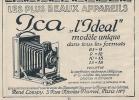 """Pub  De 1925 """" Appareil Photo ICA """" L'ideal"""""""" Concessionnaire René CRESPY """" - Publicités"""
