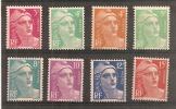 Type Marianne Gandon 1948 Neuf Sans Charnières Série N°806 à 813  Y&T Cote 11 € - Frankrijk