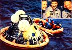 CPSM CONQUETE DE LA LUNE APOLLO XI 1969 Amérissage De La Capsule Dans Le Pacifique Aldrin Collins Armstrong - Storia