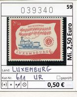 Luxemburg - Luxembourg - Michel  611 Avec Borde / Randstück - ** Mnh Neuf - Ungebraucht