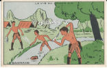 Carte Publicitaire Grands Magasins De La Samaritaine - Paris - La Vie Au Grand Air - La Baignade - Scoutismo