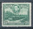 BRITISH GUIANA 1938 KING GEORGE VI SUGAR CANE WMK UPWRIGHT SG#312 VF OG MLH CV£26 (DEB01) - British Guiana (...-1966)