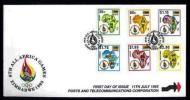ZIMBABWE 1995 Mint FDC Post & Telecom 558-563 F747 - Telecom