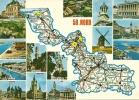 CPSM Du NORD (59) : Carte Routière Du Nord + 15 Vues. - Ohne Zuordnung