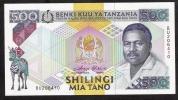 TANZANIA   P21b  ?   500 SHILLINGS  1989 Sign.3 + 7 COMBINATION *RARE SIGNATURE *UNC. - Tanzanie