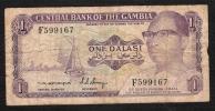 GAMBIA  P4c  1  DALASI  1971 Signature 4  FINE    NO P.h. ! - Gambia