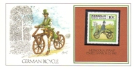 German Bicycle   -  Art Card By Basil Smith  -   Mint Mongolia Stamp - Vélo