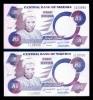 Nigeria 5 Naira 2005 Banknotes 2 Consecutive Serial # 109999-110000 UNC - Nigeria