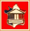 SUPER PIN´S Palais BOURBON : Rare Pin's Assemblée NATIONALE Sur Carte De FRANCE Bleu, Blanc, Rouge Signé AN - Städte