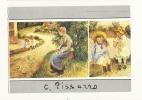 Cp, Peintures Et Tableaux, La Servante Assise Dans Le Jardin D'Eragny, Voyagée 1994 - Paintings