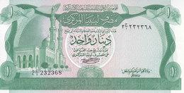 LIBYA 1 DINAR 1981 P-44a 2ND EDITION PREFIX NO1 RARE UNC */* - Libië