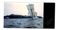 Photographie Originale: Bateau à Voile, Granville, Photo J.-P. Delahaye, Meilleurs Voeux (11-2915) - Barche