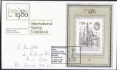 London 1980 Stamp Exhibition  Souvenir Cover Miniature Sheet United Nations Day Cancel - 1952-.... (Elizabeth II)