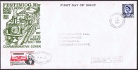 1969 FESTINIOG Railway Stamp FDC  Fairlie Patent Locomotive - Local Issues