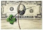 CARTE POSTALE - U.S.A. - PORTE BONHEUR - 20 DOLLARS (1953) - PIERRE DUCARDEAU - TRÊFLE - Monnaies (représentations)