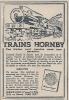 """Pub  De 1925 """" TRAINS HORNBY """" MECCANO France . - Publicités"""