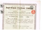ANGLO = BELGIAN  PETROLEUM COMPANY  FIVE PREFERENCE SHARES 1928  MET DE 15 COUPONS ER NOG AAN - Actions & Titres