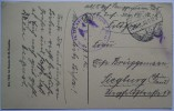 1916 GERMANY POSTCARD FELDPOST PARIS FRANCE TO SIEGBURG WITH LUTZOW AND FELDPOST 15 MARK - Deutschland