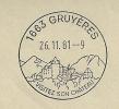 Gruyères, Timbre à Date De Propagande, 1er Jour - Marcophilie