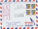 Enveloppe 1er Jour  1ere Liaison Air France Boeing 707 Paris St Denis 3/8/67 St Benoit Sur Loire - Vliegtuigen