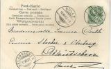 Abländschen, Empreinte D´arrivée Sur Carte Postale De Bulle - Marcophilie