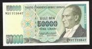 TURKEY  P204  50.000  LIRA  1995   UNC. - Turquie