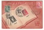 Lettre - SEINE - PARIS Salon De La Philatélie De 1946 Càd Du Salon S/TP N°676+713+716 - Lettres & Documents