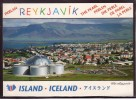 ICELAND Reykjavik Mt Esja In The Black Ground  Mint Postcard #184 - Iceland