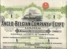 ANGLO BELGIAN COMPANY OF EGYPTE - Railway & Tramway