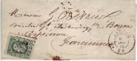 Lettre AC LII N°30 LP 195 De JAUCHE Du 6/12/72 à FARCIENNES  - TTB ET RR - 1869-1883 Leopoldo II