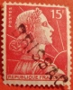 1955 Timbre 1011 +  GRIFFE - BRISSAC - , LINEAIRE OBLITERE , Y T FRANCE, COURANT MARIANNE MULLER - Gebruikt
