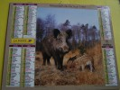 Almanach Du Facteur 1997 - LA POSTE - Vosges N°88 - Sangliers Laie Et Marcassins - Cerf Rouge - OBERTHUR - Formato Piccolo : 1991-00