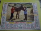 COUVERTURE Seule Sans Les Feuillets- Almanach  1980 Des PTT -  Enfants Et ANON âne - Canetons Cane - Canard - LAVIGNE - - Formato Piccolo : 1991-00