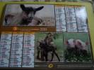 Almanach Du Facteur 2011 LA POSTE  - ANIMAUX DE LA FERME -coq Lapin Chèvre âne Porcelet Charolais - J. CARTIER BRESSON - Calendari