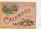 ¤¤   -   Etiquette De VIEUX CALVADOS   -   Pommes , Alcool    -   ¤¤ - Labels