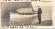 EL COMANDANTE DEL V.P. LOPEZ FONDEADO EN RIO GALLEGOS FOTO SACADA EL 1 DE ENERO DE 1931 - Altri
