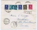 Romania: Registered Letter Bucuresti To Rüschlikon (Zürich) Switserland, Mixed Stamps, 1941 - Storia Postale