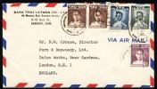 1953 Siam - Thailand. Cover Sent To England.  Bangkok 29.3.53. (H77c007) - Siam