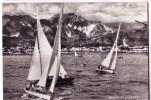 MARINA DI CARRARA  PANORAMA BARCHE A VELA F/G LUCIDO  SCRITTA MA NON VIAGGIATA  1950 - Carrara
