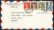 1952 Siam - Thailand Cover Sent To England.  Bangkok 26.12.52.  (H77c006) - Siam