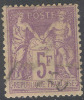 # France   96, Used, Perfs Clear, Sound,  Violet,  (fr096a-4,  Michel 76.  [16-GT - 1876-1898 Sage (Type II)