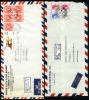 1957, 1984 Hong Kong. Two Registered Air Mail Letters, Covers Sent To Germany.  (H93c006) - Otros