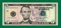 SPLENDIDE COUPURE DE 5 DOLLARS SERIES 2006 ( Etat Neuf) - United States Notes (1862-1923)