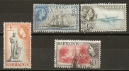 Barbades Barbados 1953 Vues Views Obl - Barbados (...-1966)