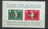 Svizzera  1959 Unif. BF 16 **/MNH VF - Blocs & Feuillets