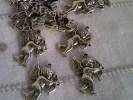 Charm Amorini Argento Tibetano- Bigiotteria San Valentino- Hobby Bigiotteria- - Perle